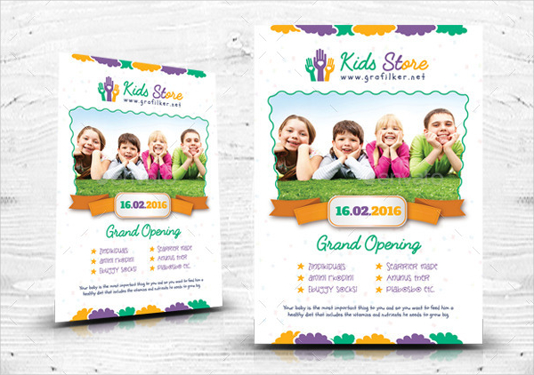 Kids Store Promotion Flyer Template