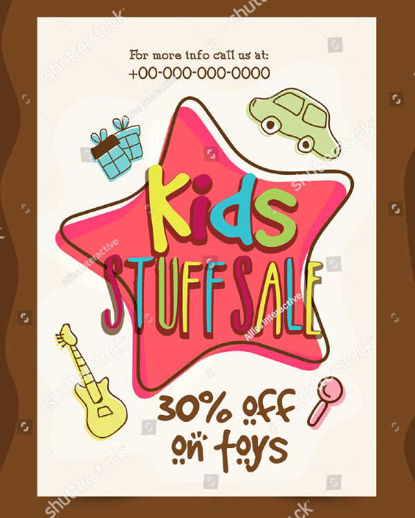 Kids Stuff Store Flyer Template