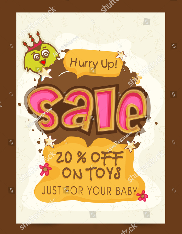 Kids Toys Sale Flyer Template