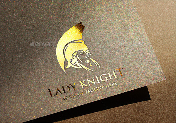 Attractive Lady Knight Logo Templates