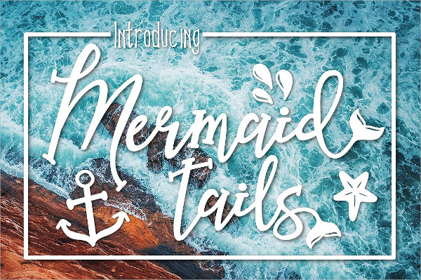 Mermaid Tails A Summertime Font