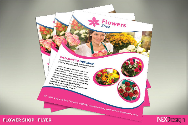 Best Flowers Shop Flyer Template