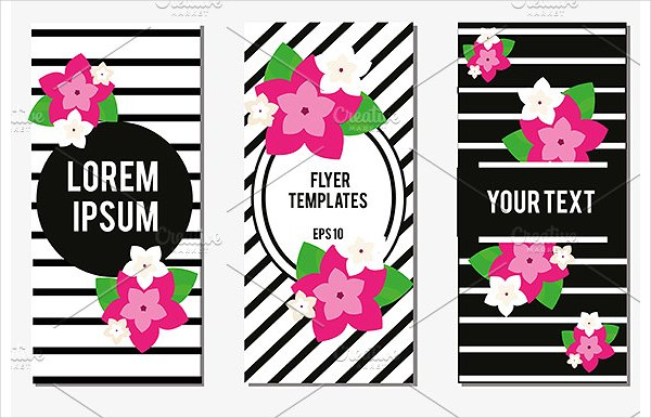 Designed Flowers Flyer Design Templates