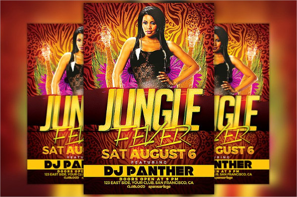 Jungle Fever Party Flyer Template