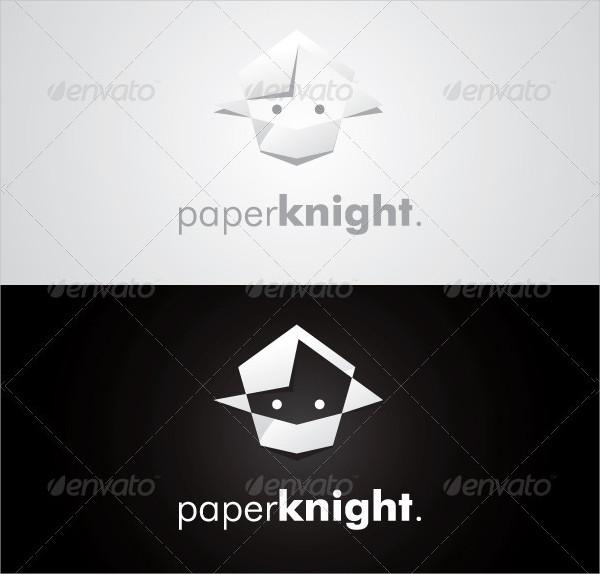 Paper Knight Logo Templates