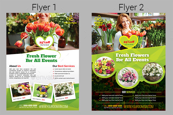 Popular Flower Shop Flyers Bundle
