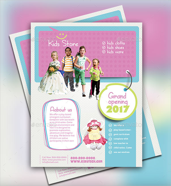 Professional Kids Store Flyer Template
