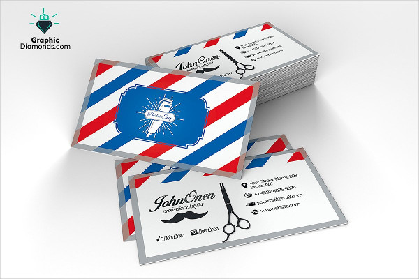 Stylish Barber Shop Business Card Template