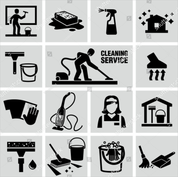 Cleaning Service Icons Vector