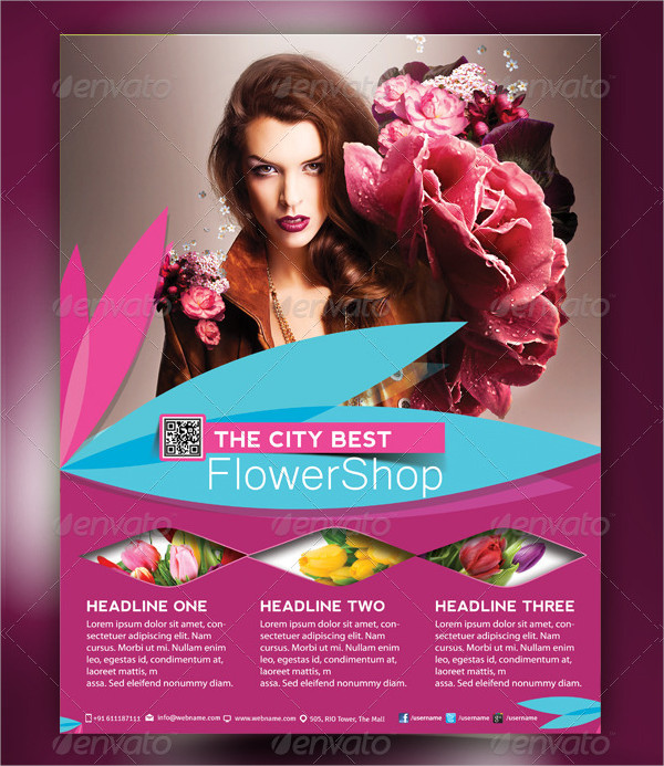 Stylish Flower Shop Flyer Template