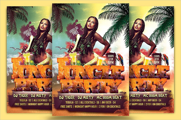Summer Jungle Party Celebration Flyer