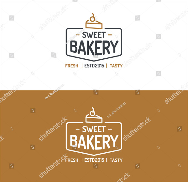 Sweet Bakery Shop Logo Template