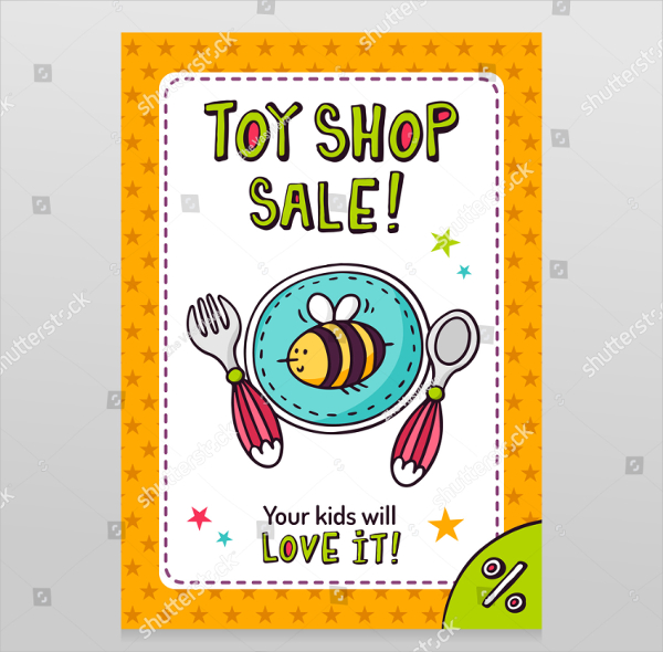 Toy Shop Bright Sale Flyer Design