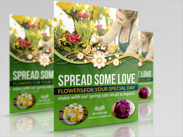 Special Flower Shop Flyer Template