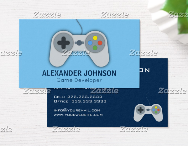24 gaming business card templates free premium download for Game designer business cards