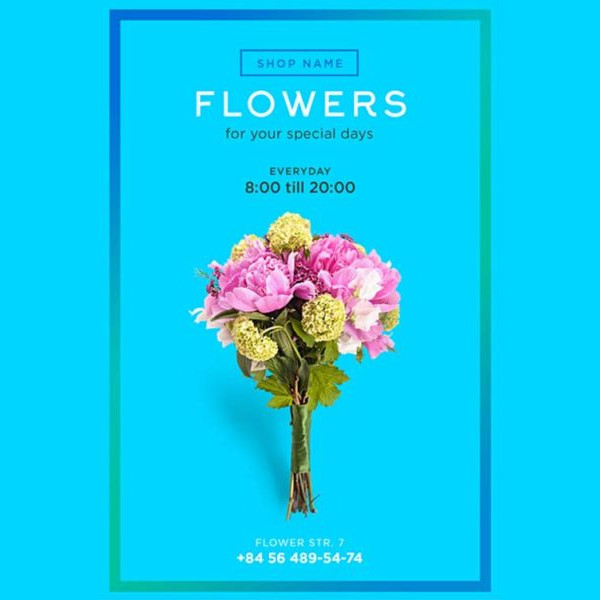 Free Vintage Flower Shop Flyer Template