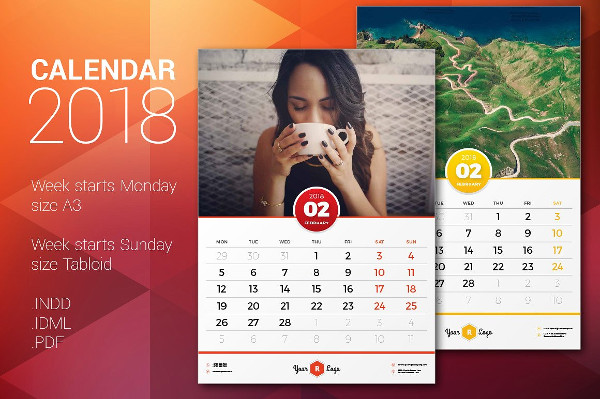 Calendar Indesign Template Boatremyeaton