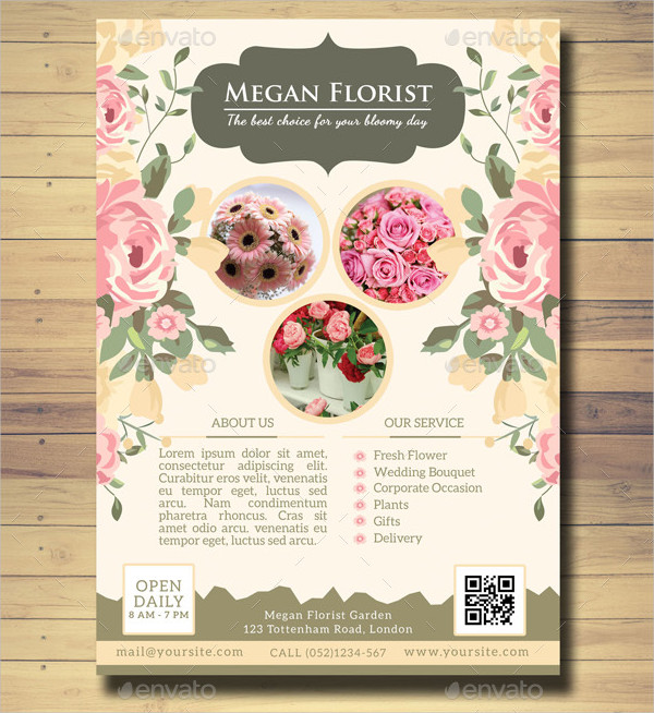 Wedding Flower Shop Flyer Template