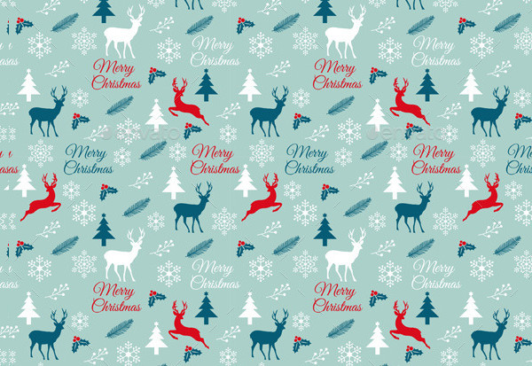 Abstract Christmas Pattern