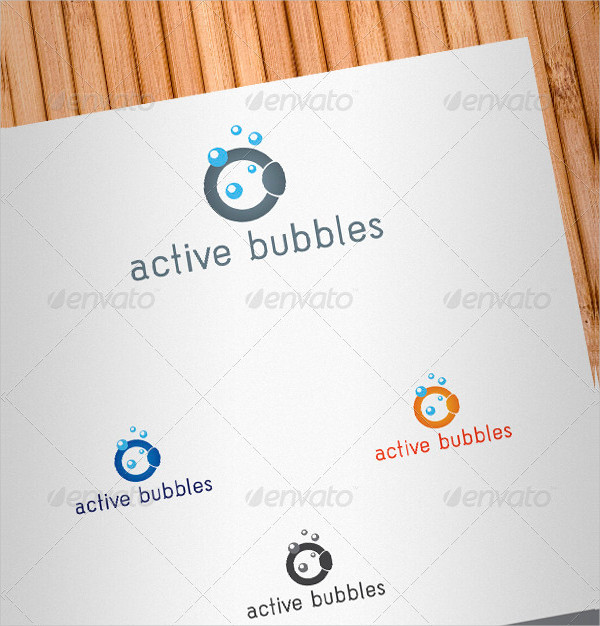 Active Bubbles Logo Template