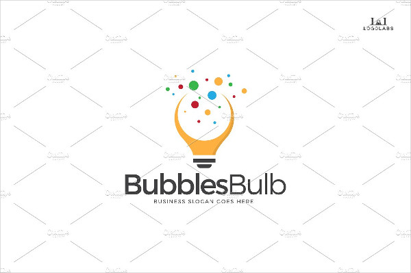 Bubbles Bulb Logo Template