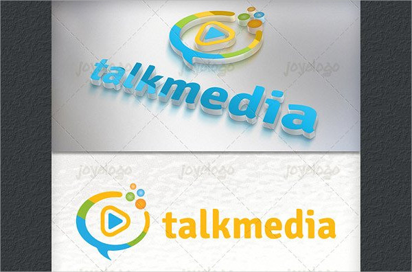 Bubbles Play Talk Media Logo Template