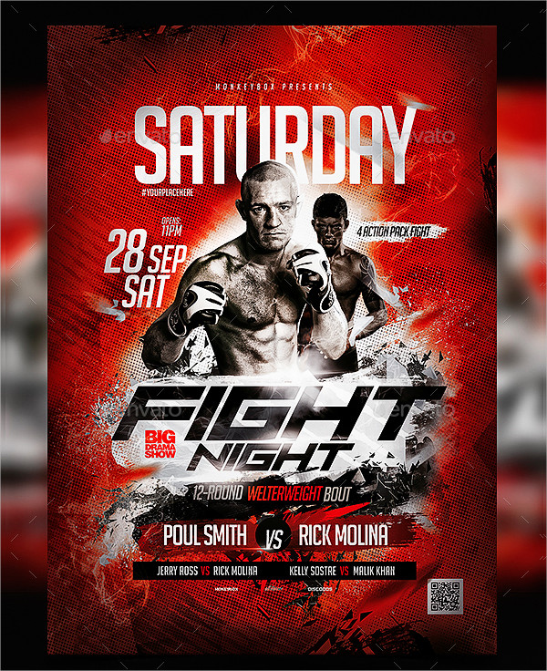 23  boxing flyer templates