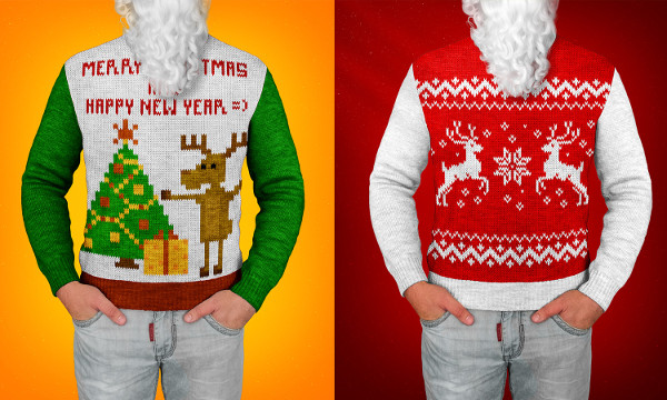 Christmas Sweater Photoshop Actions and Mock-Up