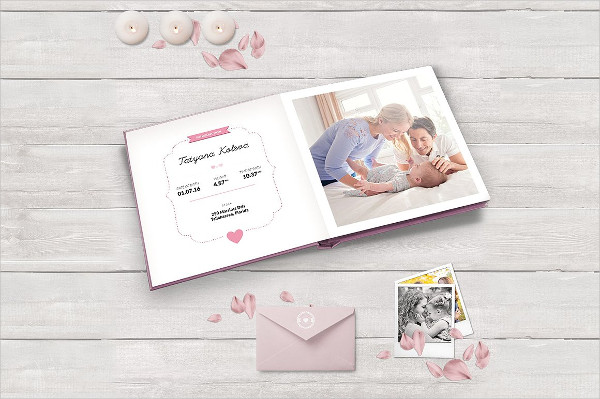 Clean Baby Photo Album Template