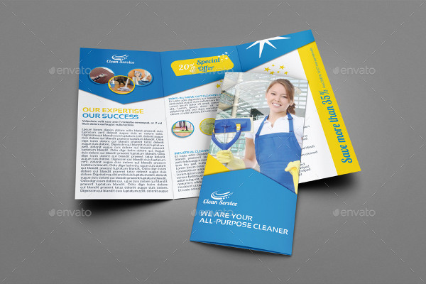 17 cleaning services brochure templates free premium for Cleaning service brochure templates