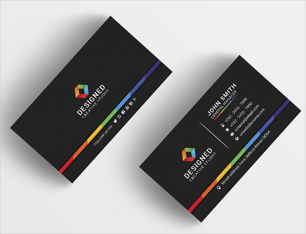 Colorful Designed Business Card Template