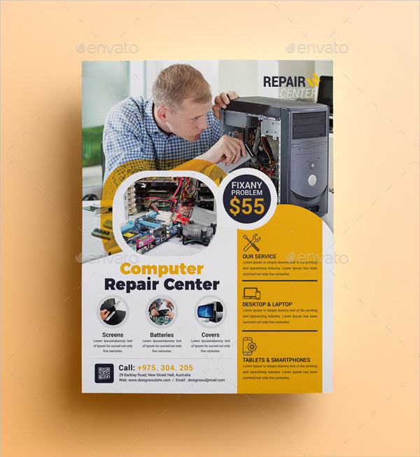 Charming Computer Repair Flyer Template Gallery  Example Resume
