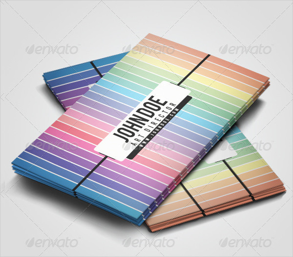 Creative Pastel Rainbow Business Cards