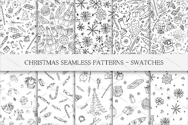Fashion Christmas Seamless Patterns