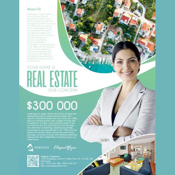 Free Professional Flyer for Real Estate Agency