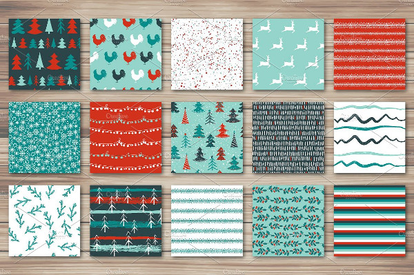 30 Merry Christmas Patterns Bundle