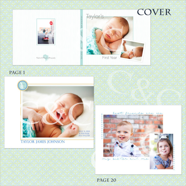 One Year Boy Album or Book Templates