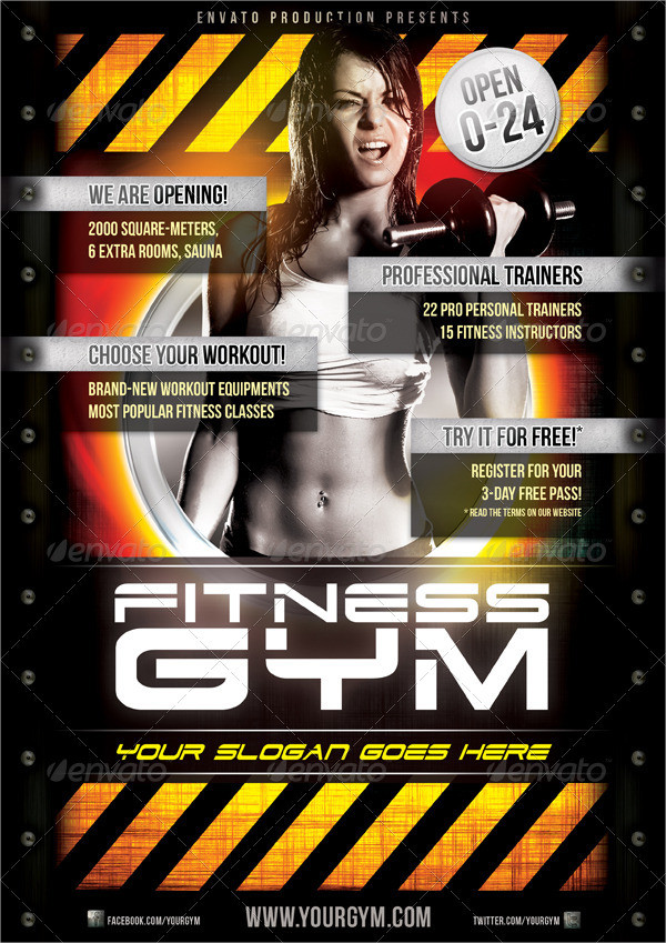 Professional Fitness Gym Flyer Template