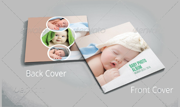 Square Baby Photo Album Template