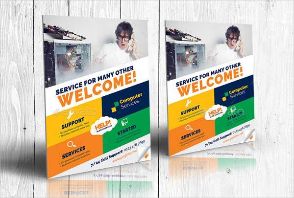 Computer Repair Flyer Templates  Free  Premium Download
