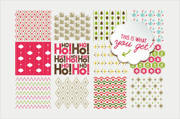 Snow Xmas Vector Pattern