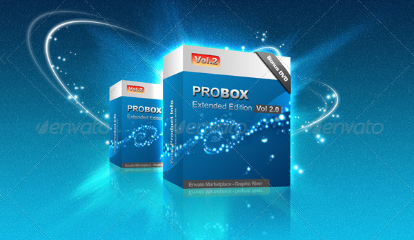 Supernova Background With Product Box