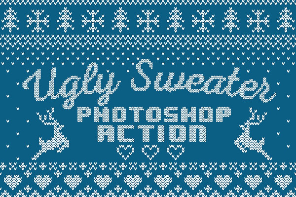 Ugly Sweater Photoshop Action