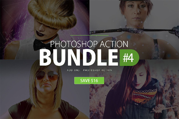 Vintage Photoshop Action Bundle for Christmas