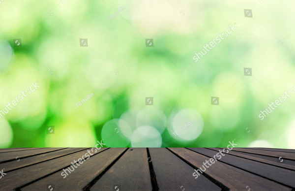 Table Top on Blur Green Display Background
