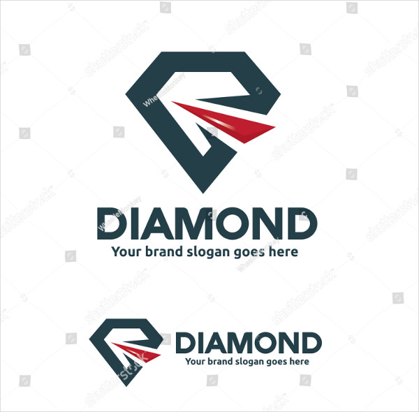Abstract Diamond Store Logo Template