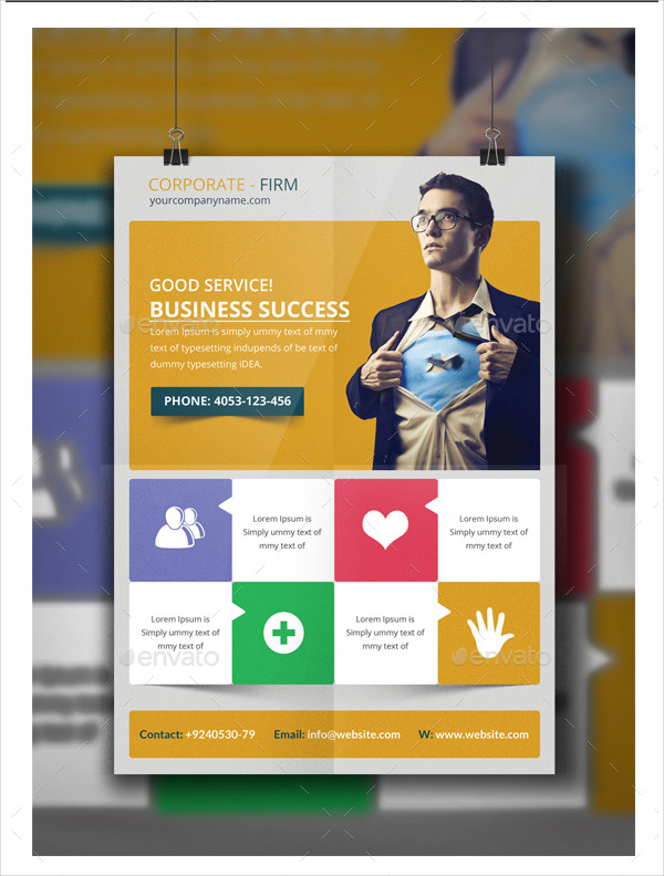 Modern Business Consultants Flyer Template