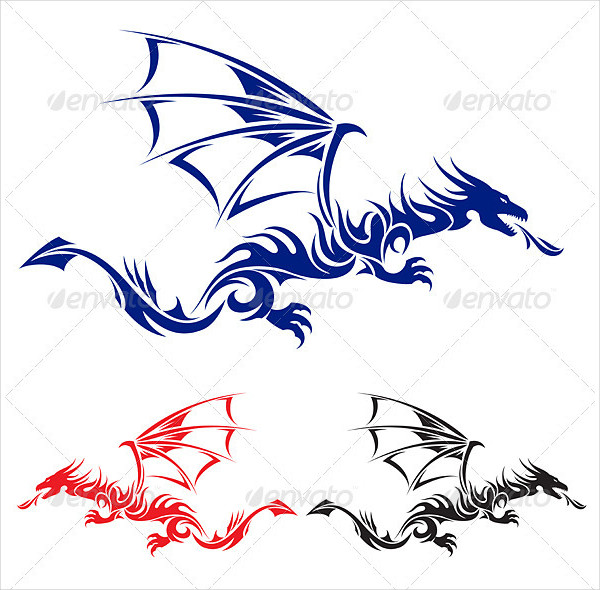 Asian Dragon Tattoo Designs