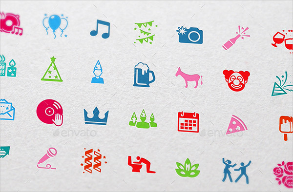 Party Icons for Web & Mobile Apps