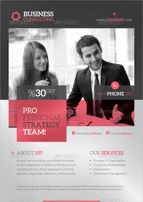 Branding Business Consulting Flyer Template